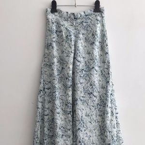 H&M - Pure silk printed long skirt